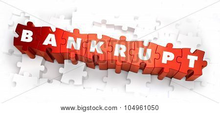 Bankrupt - White Word on Red Puzzles.