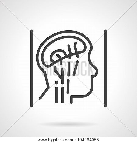 Head anatomy simple line vector icon
