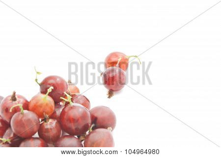 Some Red Gooseberries