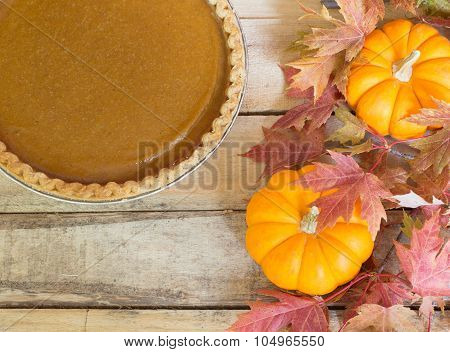Pumpkin Pie And Pumpkins