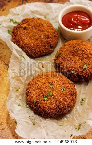 Vegetable Cutlets fried snack food