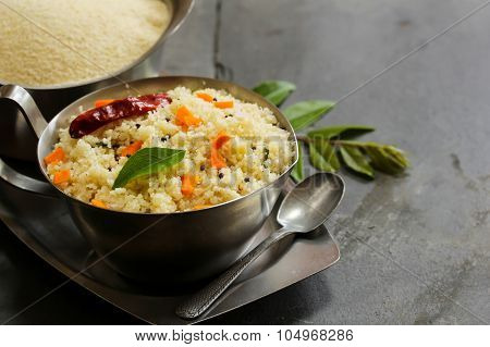 Upma - South Indian Breakfast made with semolina