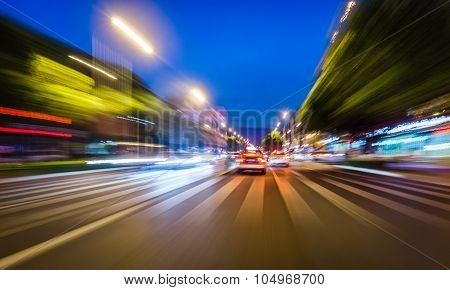 A Quick Taxi In The City Of Night