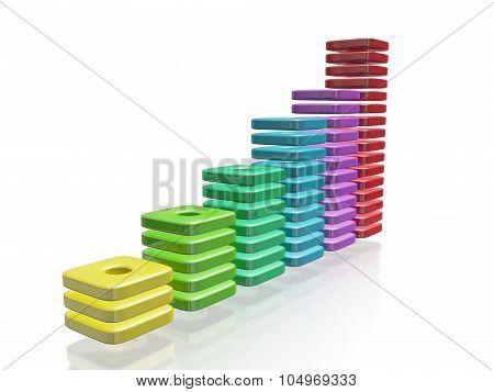 Colorful Blocks Business Growth Bar Chart