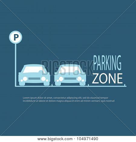 Parking Zone Blue Background.