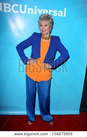 LOS ANGELES - AUG 12:  Rita Moreno at the NBCUniversal 2015 TCA Summer Press Tour at the Beverly Hilton Hotel on August 12, 2015 in Beverly Hills, CA