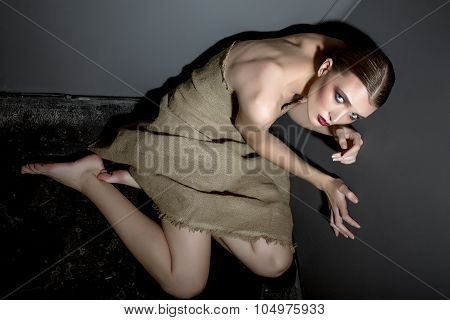 Hostage of beauty and fashion. Photo concept