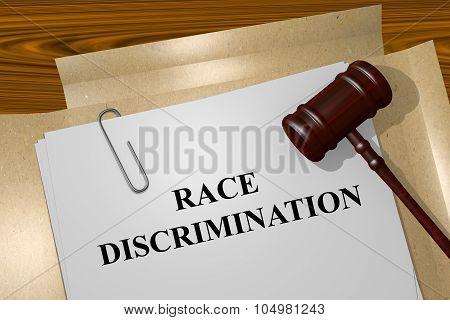 Race Discrimination Concept