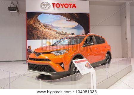 Toyota Rav4 On Display.