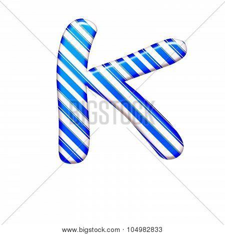 The Letter K Of Caramel Color Is Blue