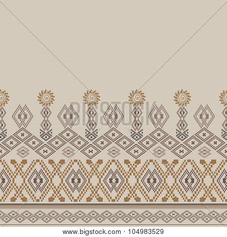 Ethnic tribal geometric ornamental pattern