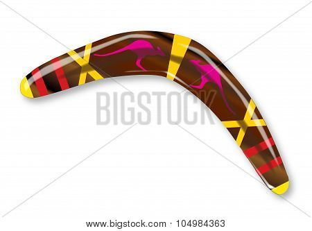 Decorated Boomerang