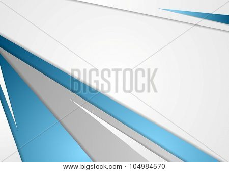 Abstract blue grey corporate background