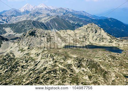 Amazing view from Kamenitsa  peak in Pirin Mountain