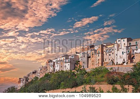 hilltown Atessa, Abruzzo, Italy