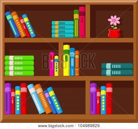 Illustration of cartoon Library