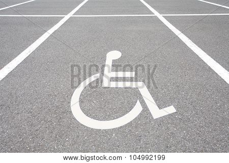Wheelchair parking space