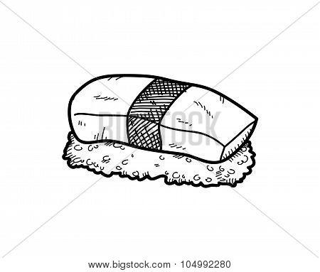 Egg Sushi Doodle