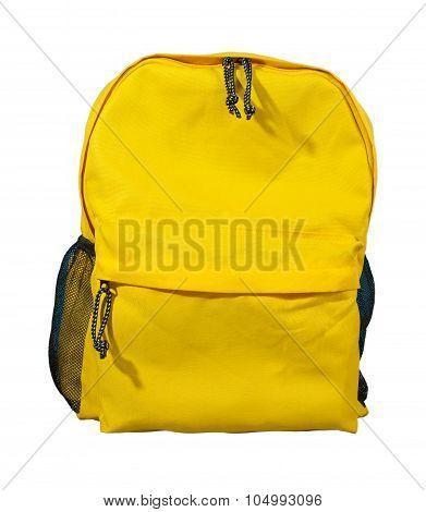 Yellow Backpack, School Bag.
