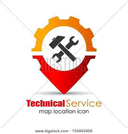 Service location marker