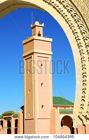 In Maroc Africa Minaret And The Blue
