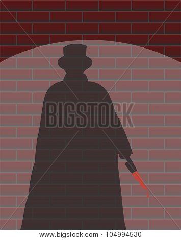 Jack The Ripper Wall Spotlight Shadow