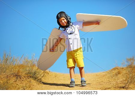 kid with wings