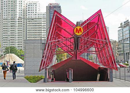 Metro Station At Rondo Daszynskiego In Warsaw
