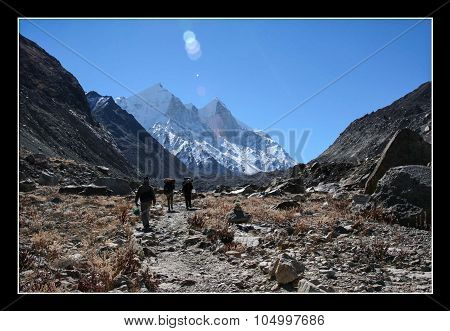 On the way to everest base camp.