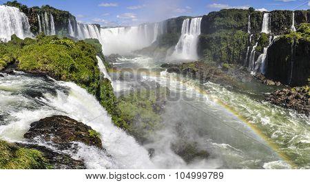 The Power Of Devil's Throat At Iguazu Falls,  Brazil