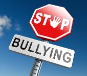 stop bullying no harassment or threat from bullies at school or at work, stopping an online internet poster