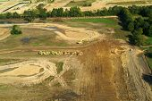 foto of subdivision  - aerial view from helicopter of construction and earth moving of new housing subdivision - JPG