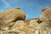 Rocks At Ghost Valley,demirji Mountains,crimea,ukraine - Famous Landmark And Natural Reserve poster