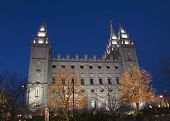 Salt Lake Temple South Side Christmas Lights