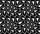 Vector modern seamless sacred geometry pattern trippy black and white abstract poster