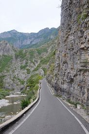 pic of albania  - Landscape with the image of mountains in Albania - JPG
