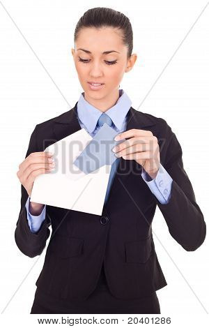 Businesswoman Sending Mail