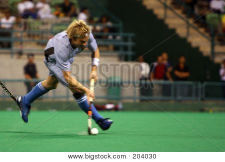 Field Hockey Player In Action
