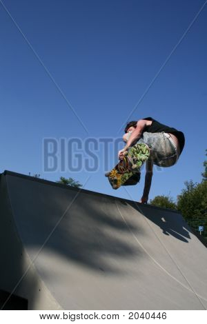 Skateboarding:Layback Air