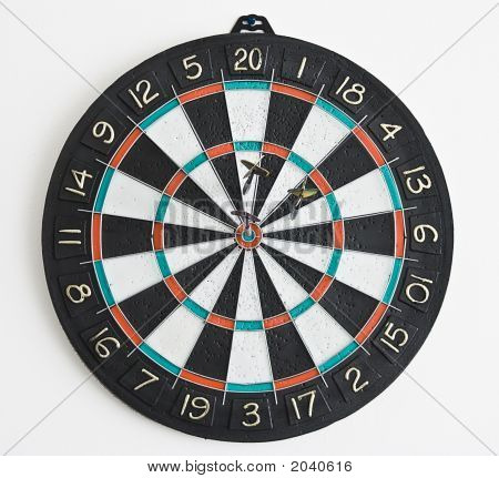 Three Darts In The Dartboard