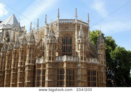 Exterior Of Westminister Abbey.The Church Of England