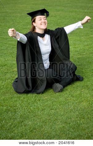 Female Graduating At University