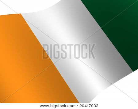 National Flag. Cote d'Ivoire