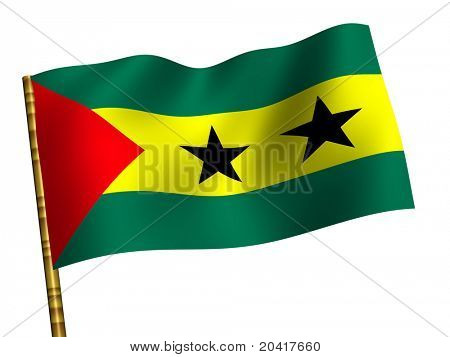 National Flag. Sao Tome and Principe