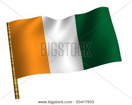 National Flag. Cote d'Ivoire