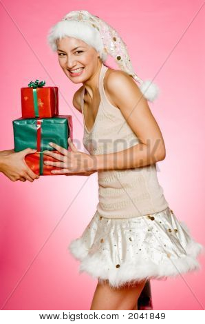 Santarina With Gifts