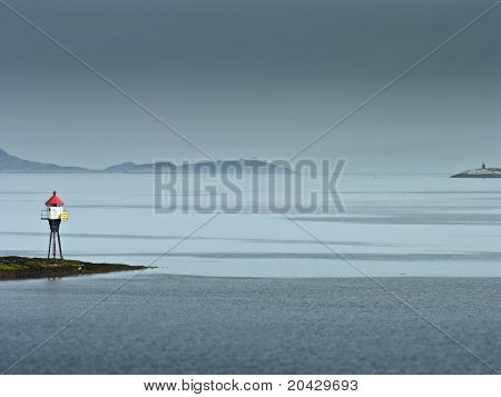 Land Marker Buoy In Norway Sea