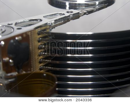 Hard Drive Platters - Side View