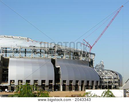 Stadium Construction - Single Red Crane