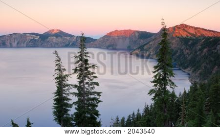 Sunset At Crater Lake